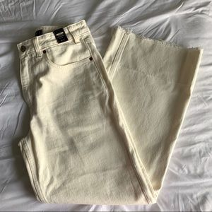 Off White Wide Legs Jeans - Abercrombie